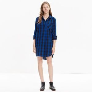 Madewell flannel plaid shirt dress Size XS